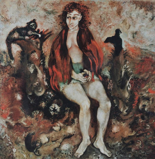 Lady in Landscape with Animals